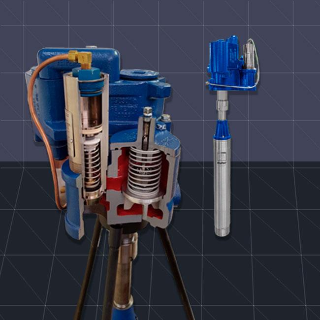 Bomba sumergible telescópica