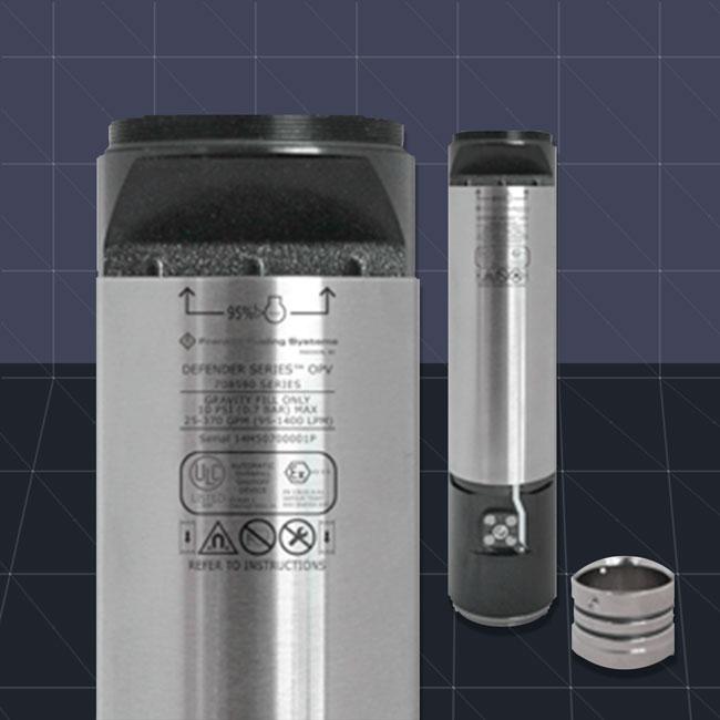 Válvula automática de prevención de sobrellenado