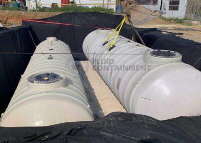Tanques reforzados de Fibra de Vidrio