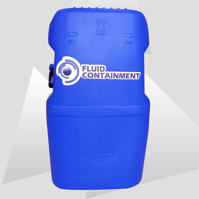 Garrafa cerrada 60 litros azul