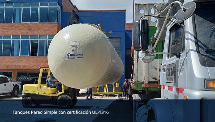 Tanques certificación UL-1316